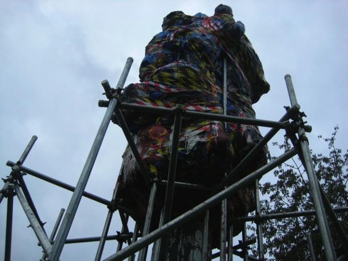 Edward VIII, 2009, steel, plastic, tape, paint, mt 8x3x3