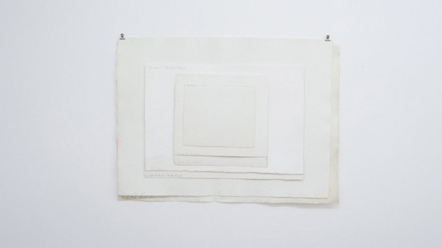 Watercolour (with paper type notes), 2011, paper, cm 90x40