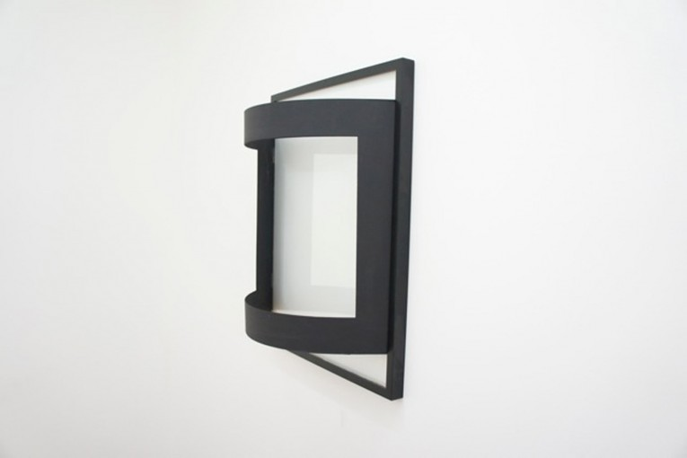The Aesthetic of Indifference, 2011, frame and mount board, cm 55x60