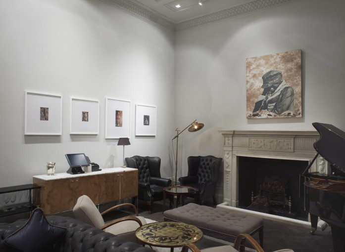 Post Red Scare Raid (After the Triumphs of Caesar by Andrea Mantegna), 2013, installation view at The Arts Club, London