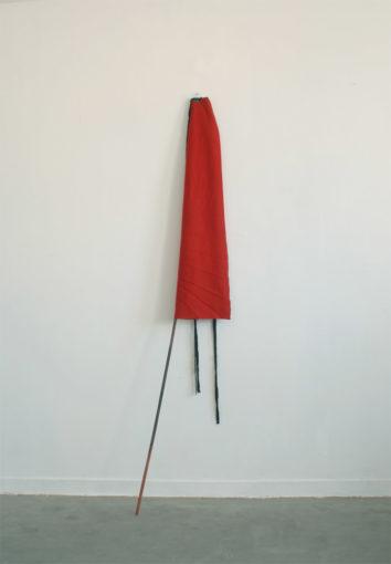 You just fail, 2010, felt, acrylic, wood, cm 197x57x7