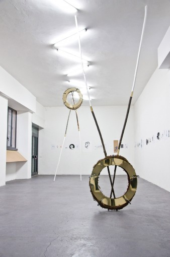The Coronation (40 failures), 2011, variable dimension, wood, fern, brass, varnish, clamps