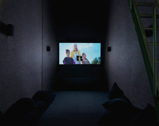 Ourhouse - Episode 3, The Cure of Folly, 2011, 36''41'; installation view at SMART Project Space, Amsterdam