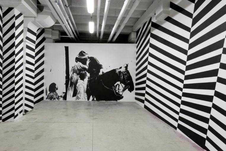 The Departed, 2009, tempera on wall; installation view at EX3, Centro per l'Arte Contemporanea, Florence