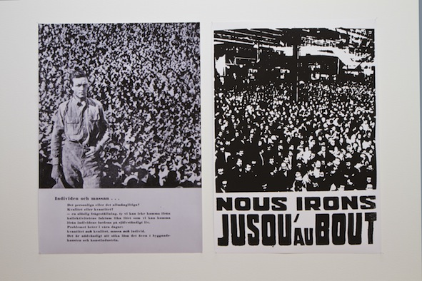 The Individual and the Mass (ou nous irons jusqu'au bout), 2011; printings 50 x 70 cm each