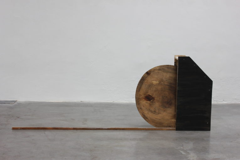 I'm Never Coming Home Folder, 2015 wood, acrylic, olive oil, soil 220 x 87 x 20 cm