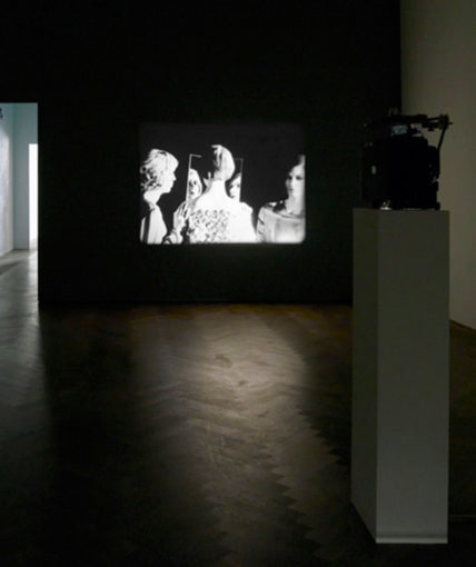 Theatralic Personalities after Mary Wigman and Madam d'Ora, 2007/2008 , 16mm, colour/b&w/silent, 5'20''; installation view at Kunsthalle Basel, 2008, photo credit: Serge Hasenboehler
