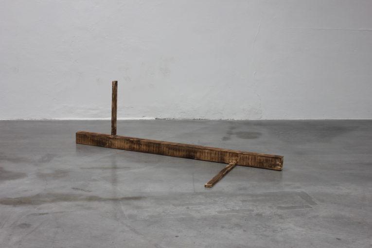 A Couple (Something Went Wrong), 2015 wood, liquids, organic matter 180 x 125 x 67 cm