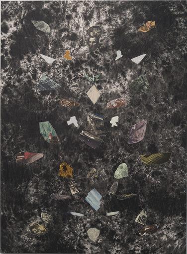 Ian Tweedy, Fragment Study IV, 2015, oil on canvas, 165 x 122 cm