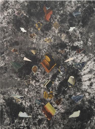 Ian Tweedy, Fragment Study V, 2015, oil on canvas, 165 x 122 cm