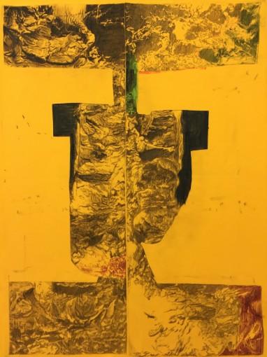 Ian Tweedy, Fragment Study VII, 2015, ink on canvas, 101 x 76 cm