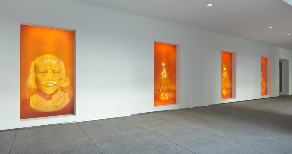 Hammer Projects: Nathaniel Mellors, 2014, installation view at Hammer Museum, Los Angeles