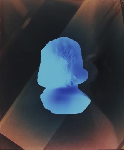 Neandergram - Something Inside The House, 2013, unique color photogram, 61x51 cm framed