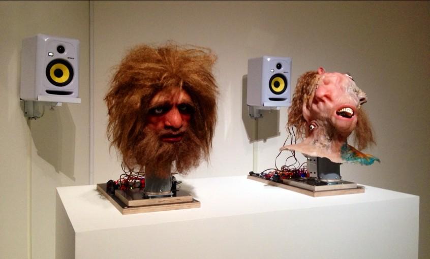 Neanderthal Container (Animatronics Prelaps), 2014, installation view at Taipei Biennal 2014, Taiwan