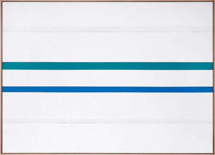 Claudio Verna, Pittura 1977, acrylic on canvas, 100 x 140 cm