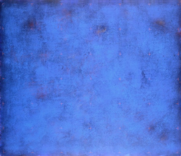 Claudio Verna, Blu primario, 2005,  acrylic on canvas, 170 x 200 cm