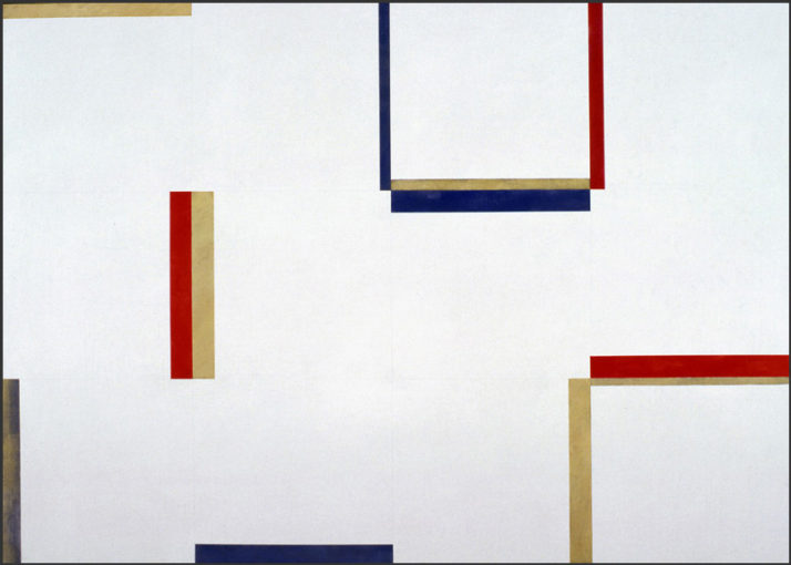 Claudio Verna, Pittura, 1974, acrylic on canvas, 100 x 140 cm