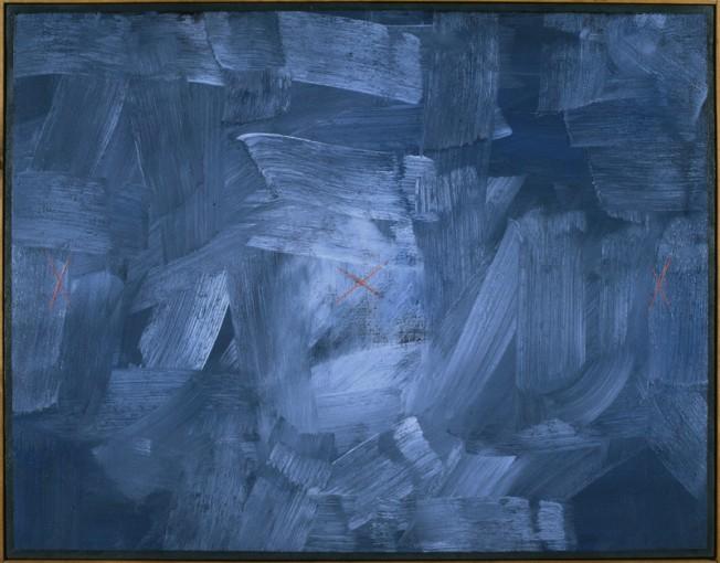 Claudio Verna, In altro modo, 1978, oil on canvas, 70 x 90 cm