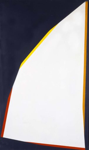 Claudio Verna, Contromare, 1969, acrylic on canvas, 185 x 110 cm