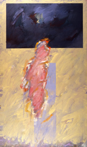 Claudio Verna, Personal painting, 1985, oil on canvas, 200 x 120 cm