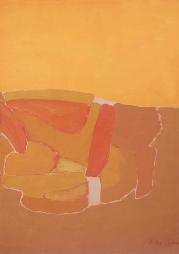 Claudio Verna, Cromopaesaggio, 1960, tempera on paper, 70 x 50 cm