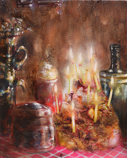 Buon compleanno, 2015, oil on canvas, 50 x 40 cm