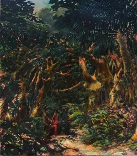Abbandonai la giungla per altra giungla, 2016, oil on canvas, 205 x 165 cm