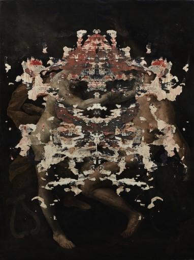 Fiamma parassita, 2016, Oil on linen, 200 x 150 cm