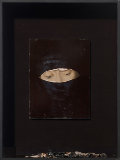 Nicola Samorì, Traspirazione della Vergine, 2016, oil on board, 40 x 30 cm