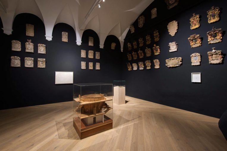 Gare de l'Est | Alberto Burri, Nicola Samorì, Gustave Jospeh Witkowski, 2016, installation view of the exhibition, Anatomical Theatre - Palazzo del Bo, Padua
