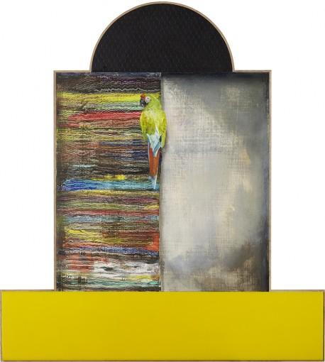 Paradies, 2016, oil, plexiglass, plywood on Mdf, 78 x 70 x 3,5 cm