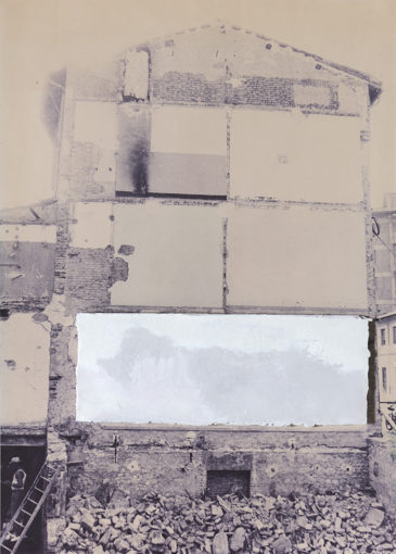Affreschi, 1973, photographic board and plaster sheet, 69 x 49 cm