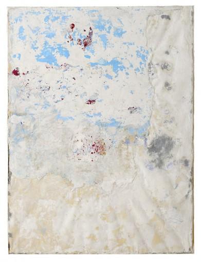 Strappo d'affresco, 2012, plaster, tarlatan and pigments on board, 200 x 150 cm