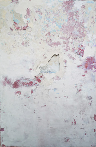 Musivum, 2012, mixed media on canvas and board,150 x 100 cm