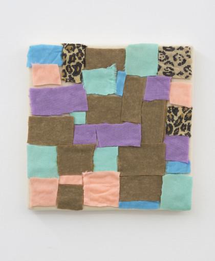 Eric Bainbridge, Untitled, 2016, fur fabric, 59 x 59 cm