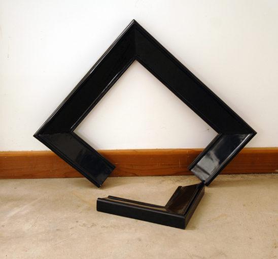 Broken Frame, 2009, fiberglass, lacquer surface, 66 x 66 x 20 cm