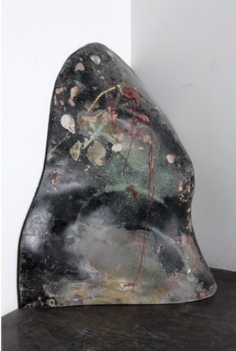 Lookout Mountain, in Half, 1966, various paints on fiberglass and wood, 100 x 83 x 58 cm