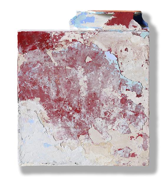 Franco Guerzoni, Piccola stanza, 2017 Stucco, gesso, pigmenti su tavola / stucco, chalk, pigment on board